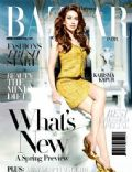 Karisma Kapoor on the cover of Harpers Bazaar (India) - January 2011