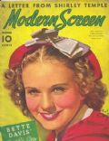 Deanna Durbin on the cover of Modern Screen (United States) - December 1937