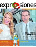 Blake Lively, Ryan Reynolds on the cover of Expresiones (Ecuador) - December 2011