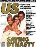 Catherine Oxenberg, Heather Locklear, Michael Nader on the cover of Us Magazine (United States) - May 1986
