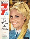 Christiane Minazzoli on the cover of Tele 7 Jours (France) - July 1966