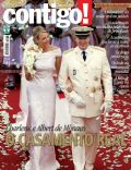 Prince Albert of Monaco, Princess Charlene of Monaco on the cover of Contigo (Brazil) - July 2011