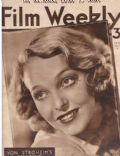 Sally Blane on the cover of Film Weekly (United Kingdom) - May 1935