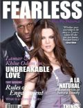 Khloé Kardashian, Khloe Kardashian and Lamar Odom, Lamar Odom on the cover of Fearless (United States) - April 2011