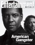Denzel Washington on the cover of Entertainment Weekly (United States) - November 2007