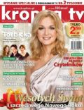 Grazyna Torbicka on the cover of Kropka TV (Poland) - December 2012