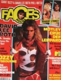 David Lee Roth on the cover of Faces (United States) - April 1985
