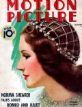 Norma Shearer on the cover of Motion Picture (United States) - October 1936