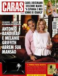 Antonio Banderas, Antonio Banderas and Melanie Griffith, Melanie Griffith on the cover of Caras (Brazil) - May 2011
