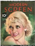 Bette Davis on the cover of Modern Screen (United States) - February 1933
