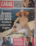 Andrea Del Boca on the cover of Caras (Argentina) - July 1993