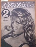 Brigitte Bardot on the cover of Estrellas (Uruguay) - January 1959