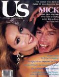 Jerry Hall, Mick Jagger on the cover of Us Magazine (United States) - November 1981