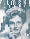 Deborah Kerr on the cover of Filmski Vjesnik (Yugoslavia Serbia and Montenegro) - January 1952