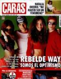 Benjamin Rojas, Benjamin Rojas and Luisana Lopilato, Camila Bordonaba, Camila Bordonaba and Benjamin Rojas, Felipe Colombo, Felipe Colombo and Camila Bordonaba, Luisana Lopilato, Luisana Lopilato and Felipe Colombo on the cover of Caras (Argentina) - January 2003