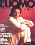 Dennis Quaid on the cover of Luomo Vogue (Italy) - April 1991