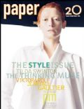 Tilda Swinton on the cover of Paper (United States) - March 2004