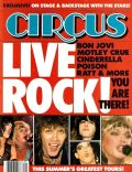 Bret Michaels, Jon Bon Jovi, Nikki Sixx, Stephen Pearcy, Vince Neil on the cover of Circus (United States) - September 1987