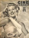 Rita Hayworth on the cover of Cine Revue (Belgium) - April 1947
