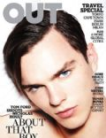 Nicholas Hoult on the cover of Out (United States) - November 2009