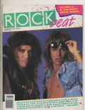Stephen Pearcy, Vince Neil on the cover of Rock Beat (United States) - June 1987