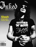 Slash on the cover of Inked (United States) - February 2008
