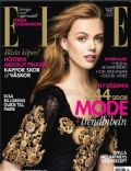 Frida Gustavsson on the cover of Elle (Sweden) - September 2012