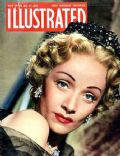 Marlene Dietrich on the cover of Illustrated (United States) - May 1950
