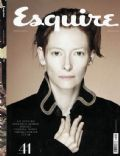 Tilda Swinton on the cover of Esquire (Russia) - February 2009
