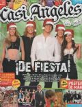 Gastón Dalmau, Juan Pedro Lanzani, María Eugenia Suárez, Mariana Espósito, Nicolas Riera on the cover of Casi Angeles (Argentina) - December 2008