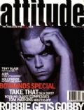 Robbie Williams on the cover of Attitude (United Kingdom) - January 1995