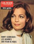Romy Schneider on the cover of Le Soir Illustre (Belgium) - January 1974