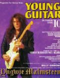 Yngwie Malmsteen on the cover of Young Guitar (Japan) - October 1996