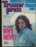 Jim Morrison on the cover of Trouser Press (United States) - September 1981