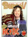 Angus Young on the cover of Burrn (Japan) - January 1993