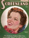 Katharine Hepburn on the cover of Screenland (United States) - March 1936