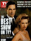 January Jones, Jon Hamm on the cover of TV Guide (United States) - August 2008