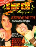Joe Perry, Steven Tyler on the cover of Enfer (France) - December 1984