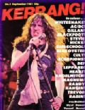 David Coverdale on the cover of Kerrang (United Kingdom) - September 1981
