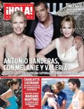 Antonio Banderas, Melanie Griffith, Stella Banderas on the cover of Hola (Argentina) - August 2013