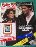 Anthony Delon on the cover of Garbo (Spain) - December 1984