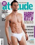 Harry Judd on the cover of Attitude (United Kingdom) - January 2012
