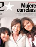 Andrea Pietra, Mercedes Morán, Nancy Dupláa on the cover of Clarin (Argentina) - April 2008