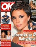 Angelina Jolie, Angelina Jolie and Brad Pitt, Brad Pitt, David Beckham, David Beckham and Victoria Beckham, Victoria Beckham on the cover of Ok (Germany) - October 2008