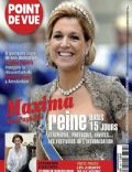 Princess Máxima of the Netherlands on the cover of Point De Vue (France) - April 2013