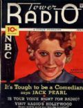 Annette Hanshaw on the cover of Tower Radio (United States) - July 1934