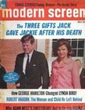 Jacqueline Kennedy on the cover of Modern Screen (United States) - July 1966