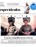 Adrián Suar, Natalia Oreiro on the cover of La Nacion (Argentina) - January 2013