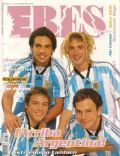 Alejo Ortiz, Juan Ponce de León, Nahuel Mutti, Tomás Fonzi on the cover of Eres (Argentina) - June 1998