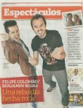 Benjamín Rojas, Felipe Colombo on the cover of Clarin (Argentina) - May 2013
